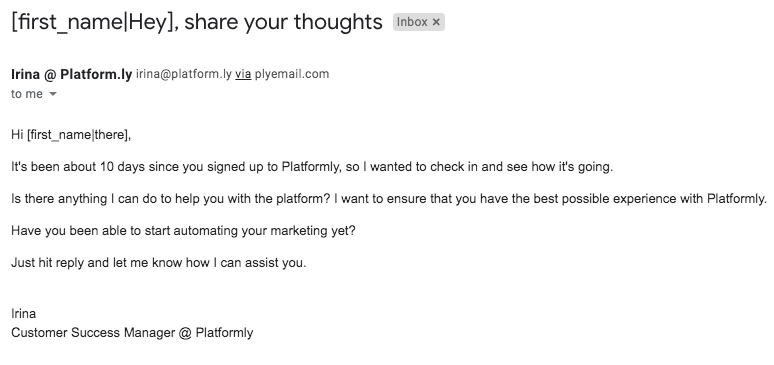 Platformly Email Template