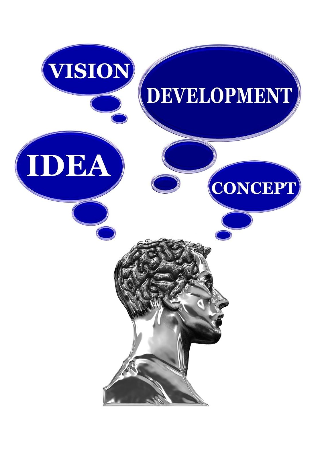 Man thinking of product development