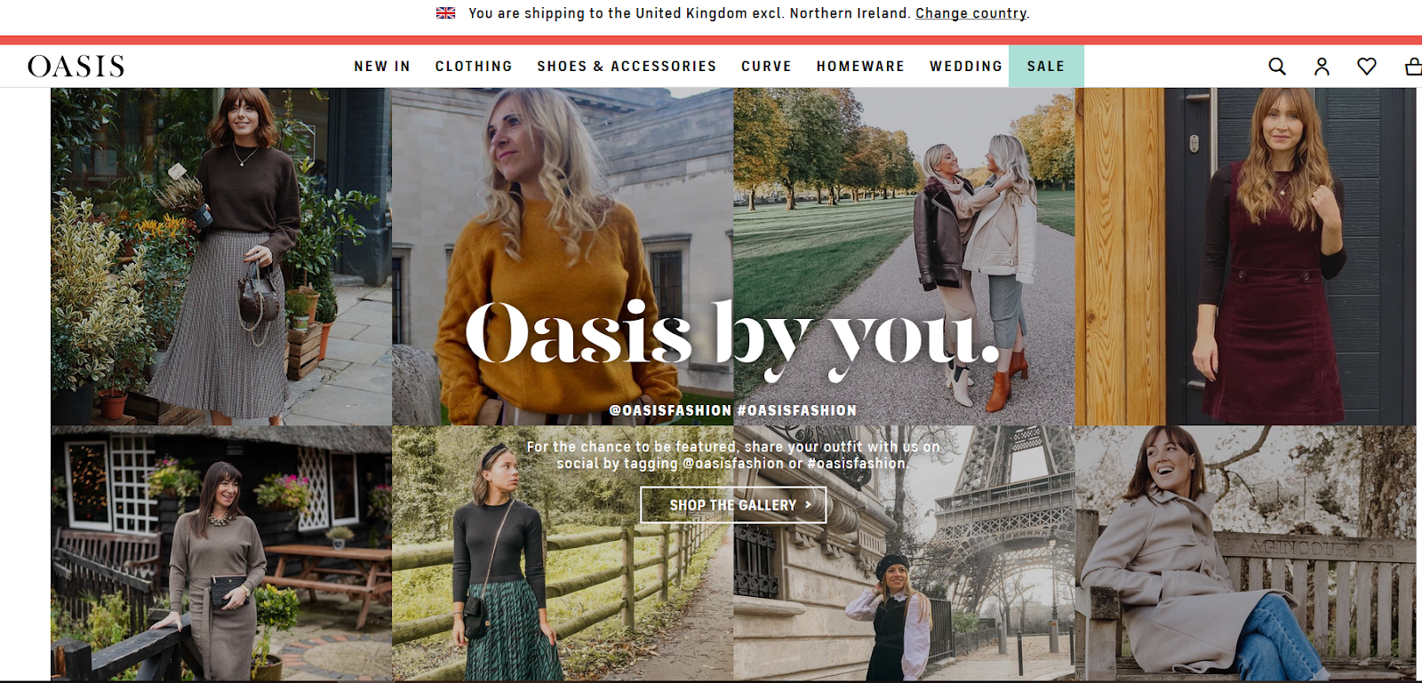 Oasis eCommerce Website Screenshot