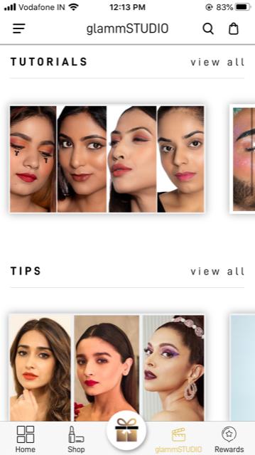 glammSTUDIO website screenshot