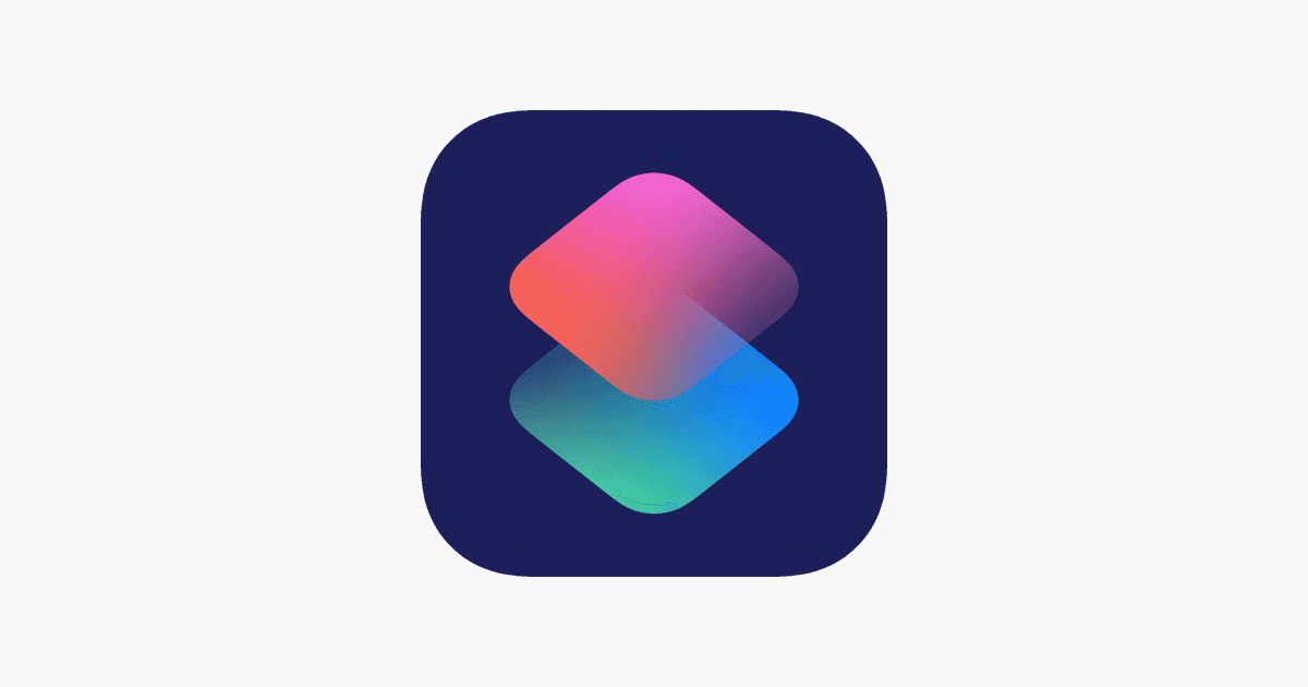 The iOS Shortcuts app logo.