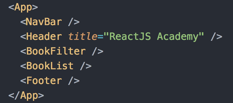 React example: declarative code