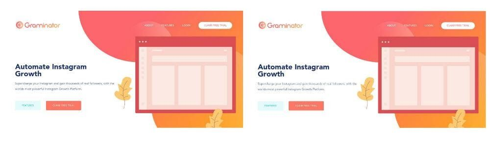 Graminator ad comparison screenshot