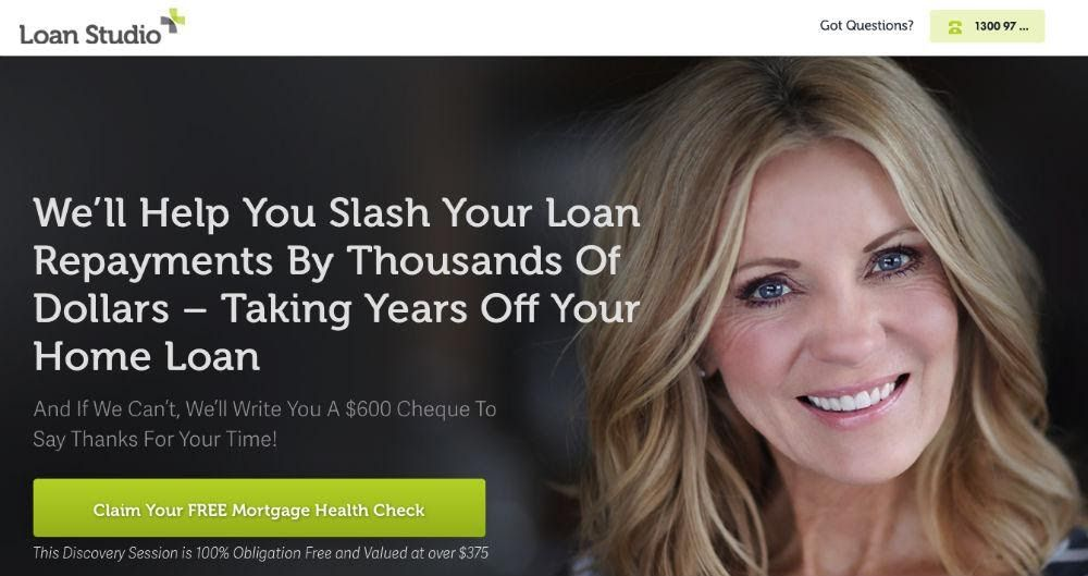 Loan Studio Website Screenshot