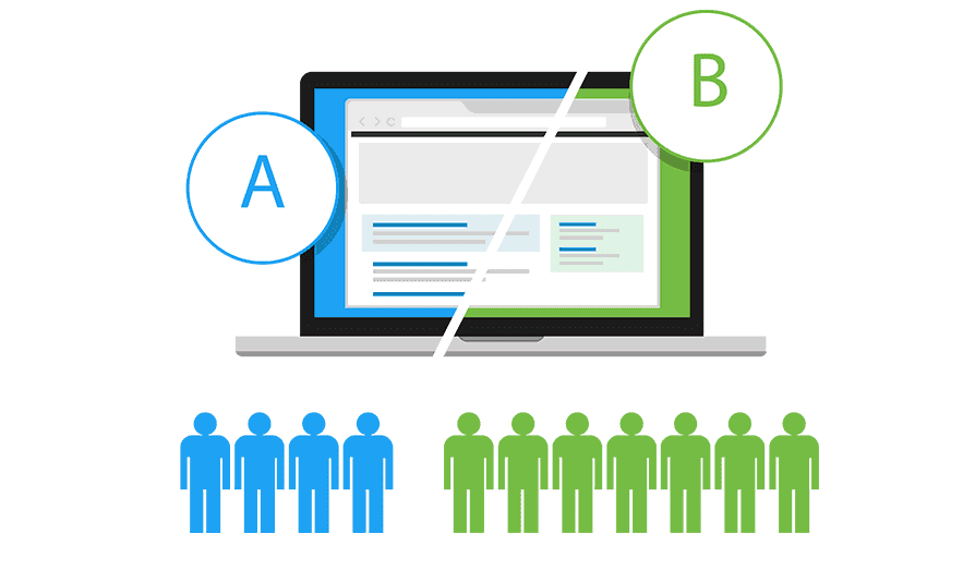 a/b testing high conversion rate landing page