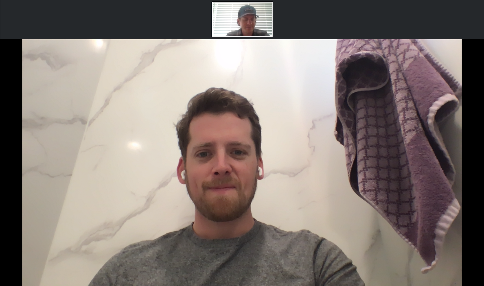 CloudApp CEO Scott Smith takes a meeting in his shower.
