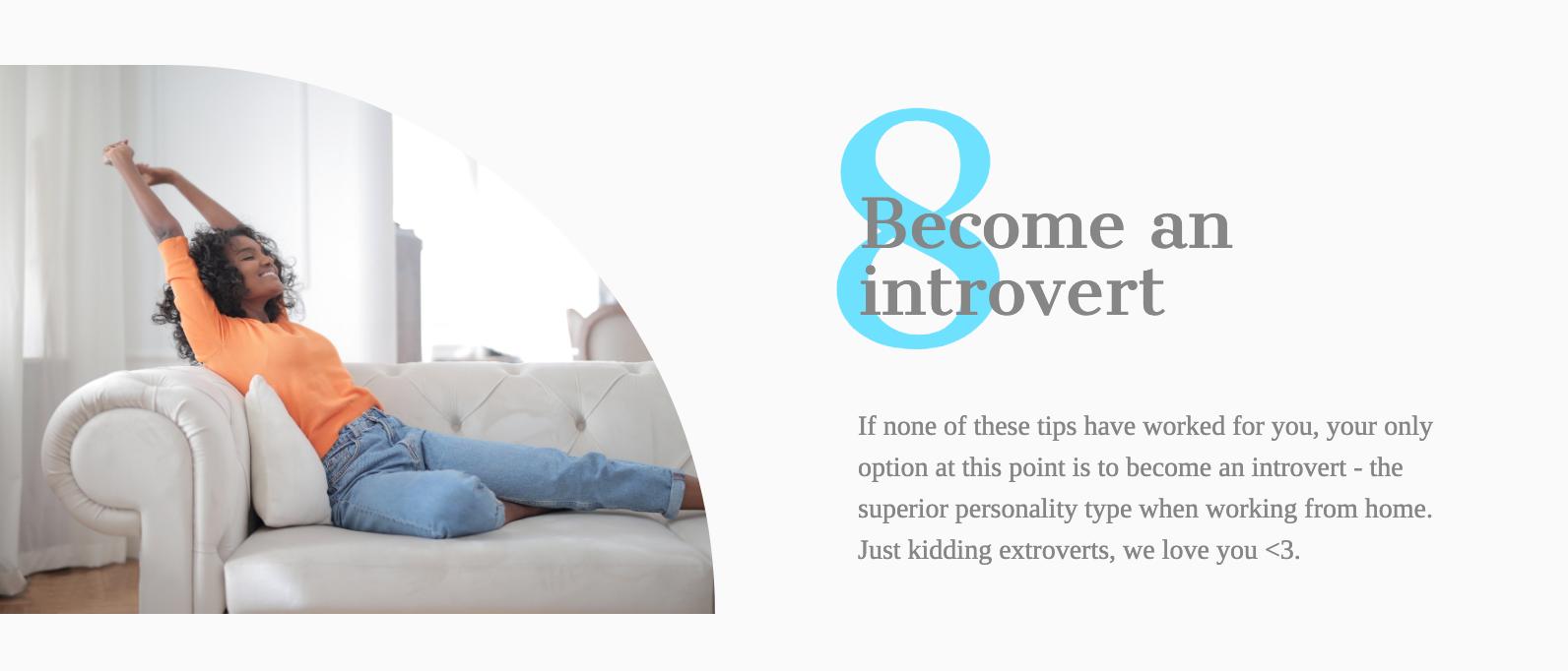 Become an introvert infobit