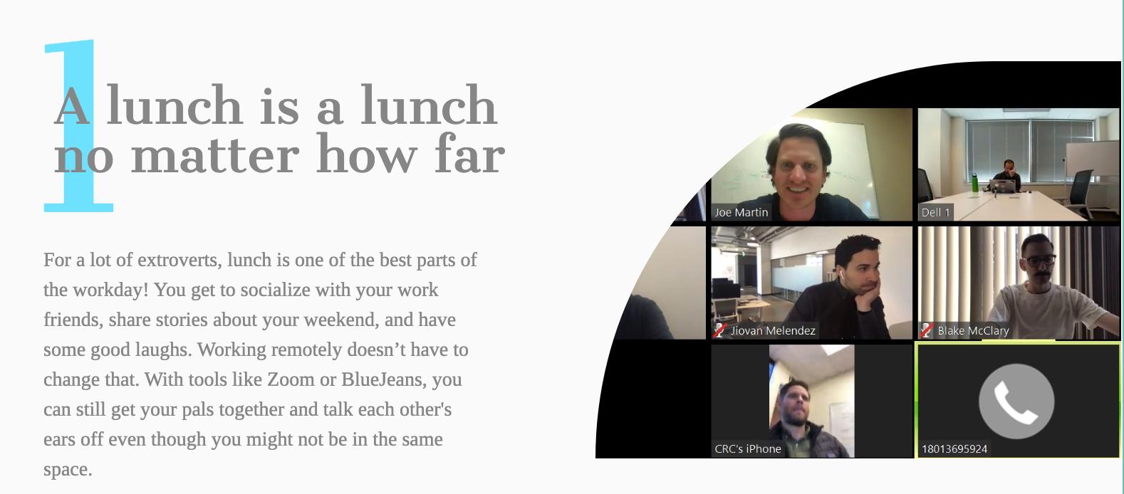 A lunch is a lunch no matter how far infobit