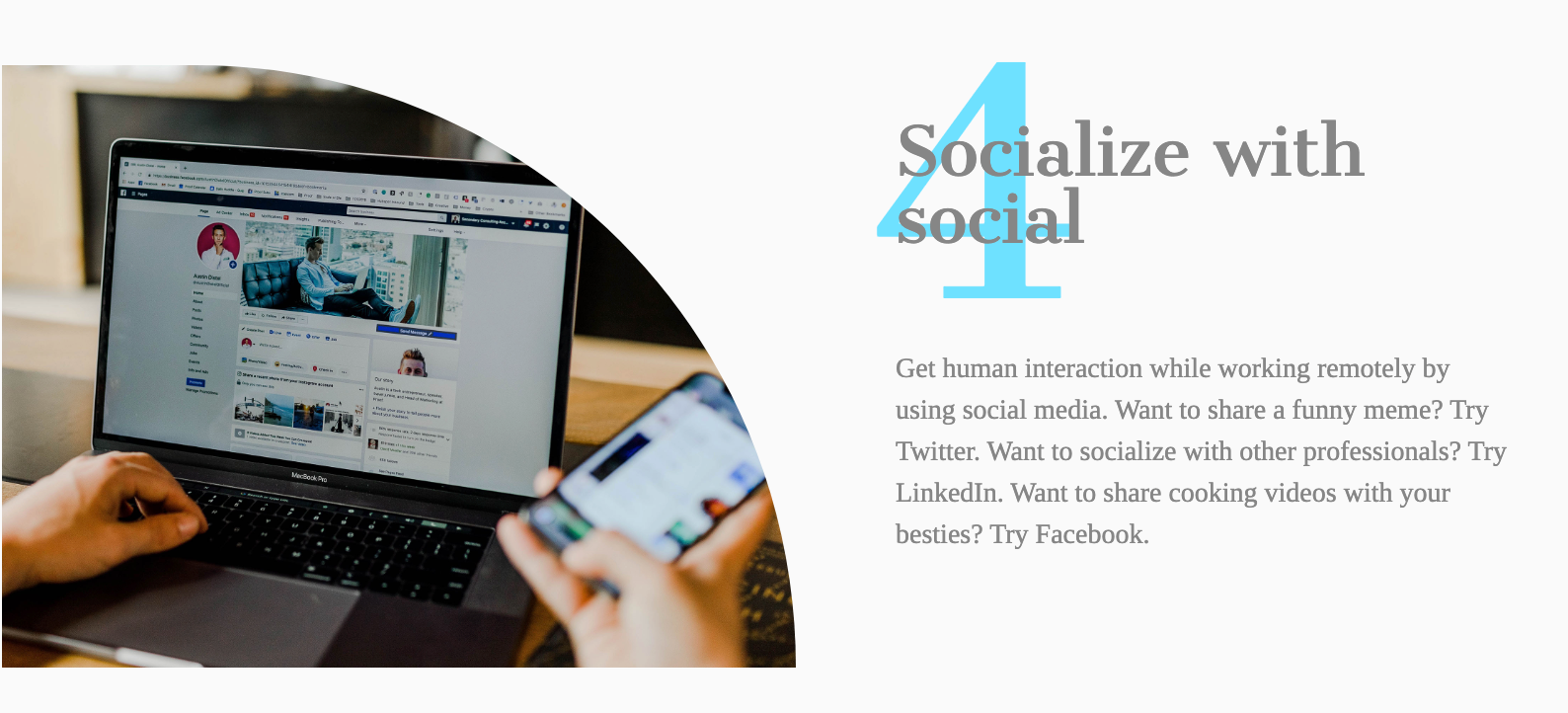 socialize with social infobit