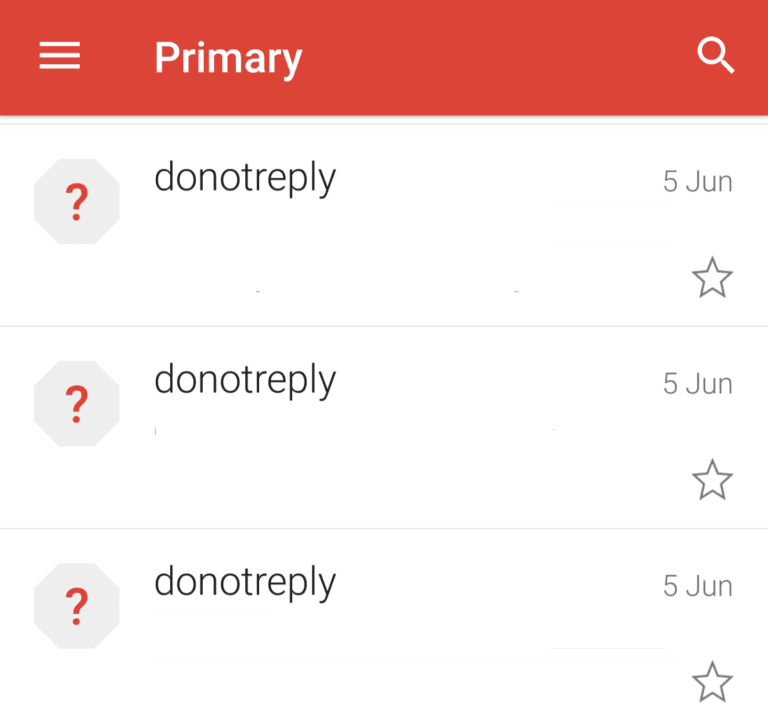 donotreply email name