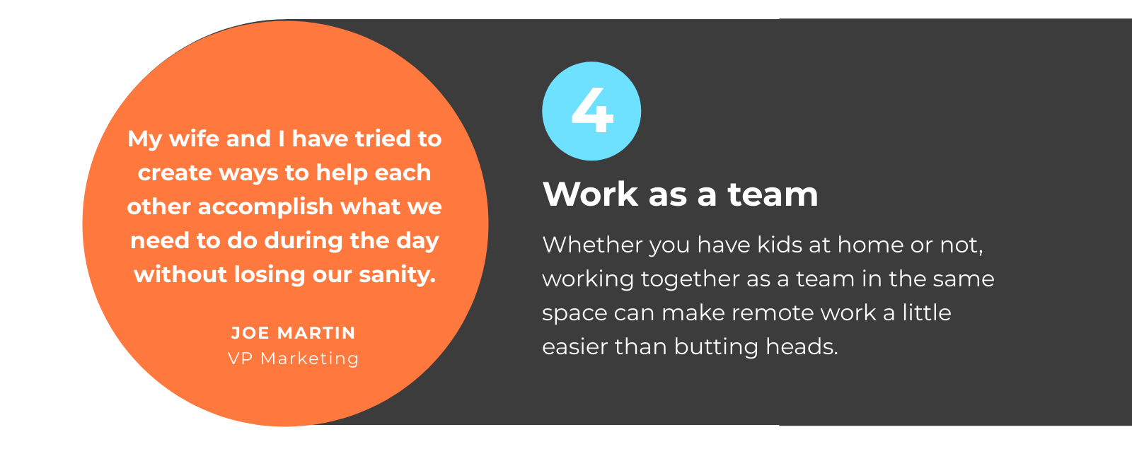 WFH with Partner Tip 4: Work as a Team