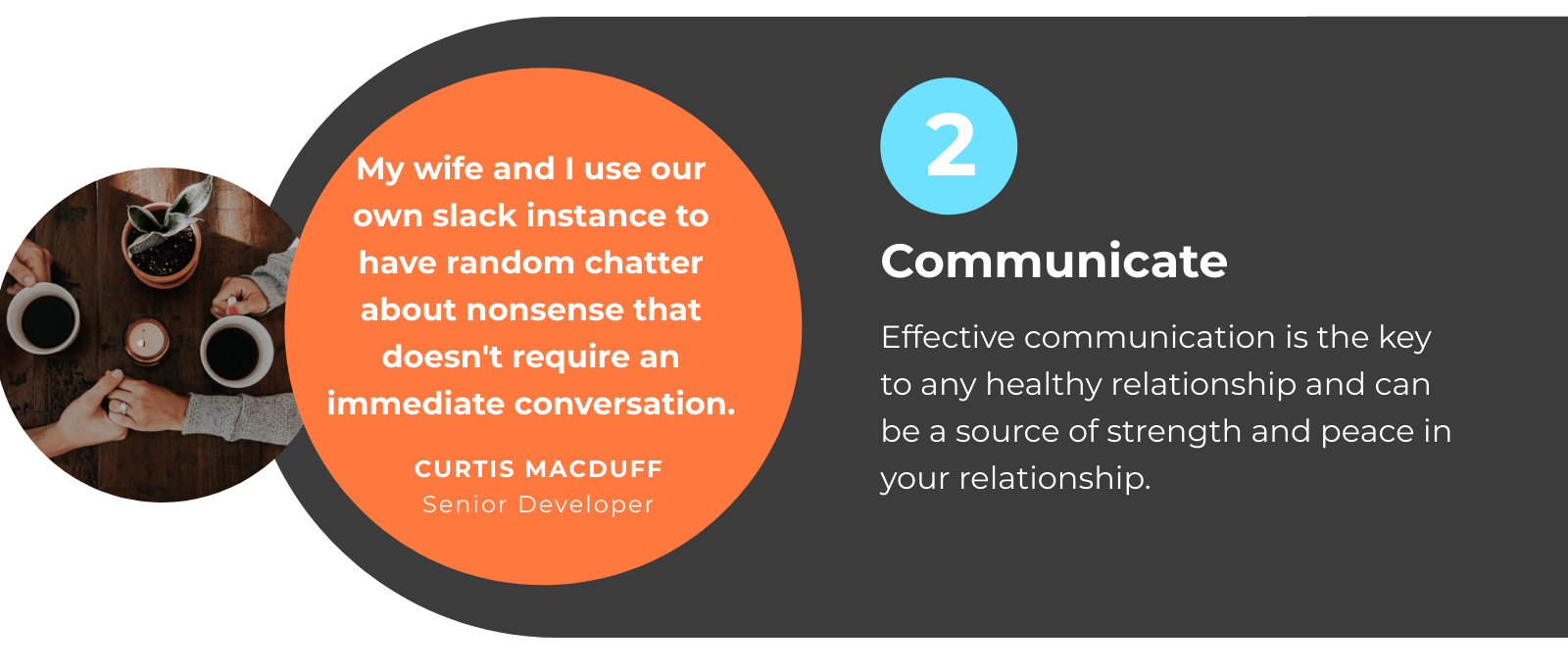 WFH with Partner Tip 2: Communicate