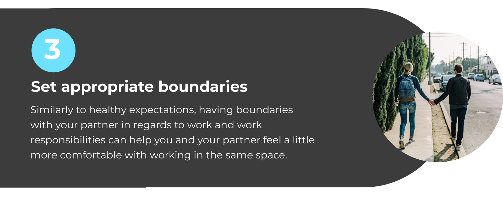 WFH with Partner Tip 3: Set Appropriate Boundaries