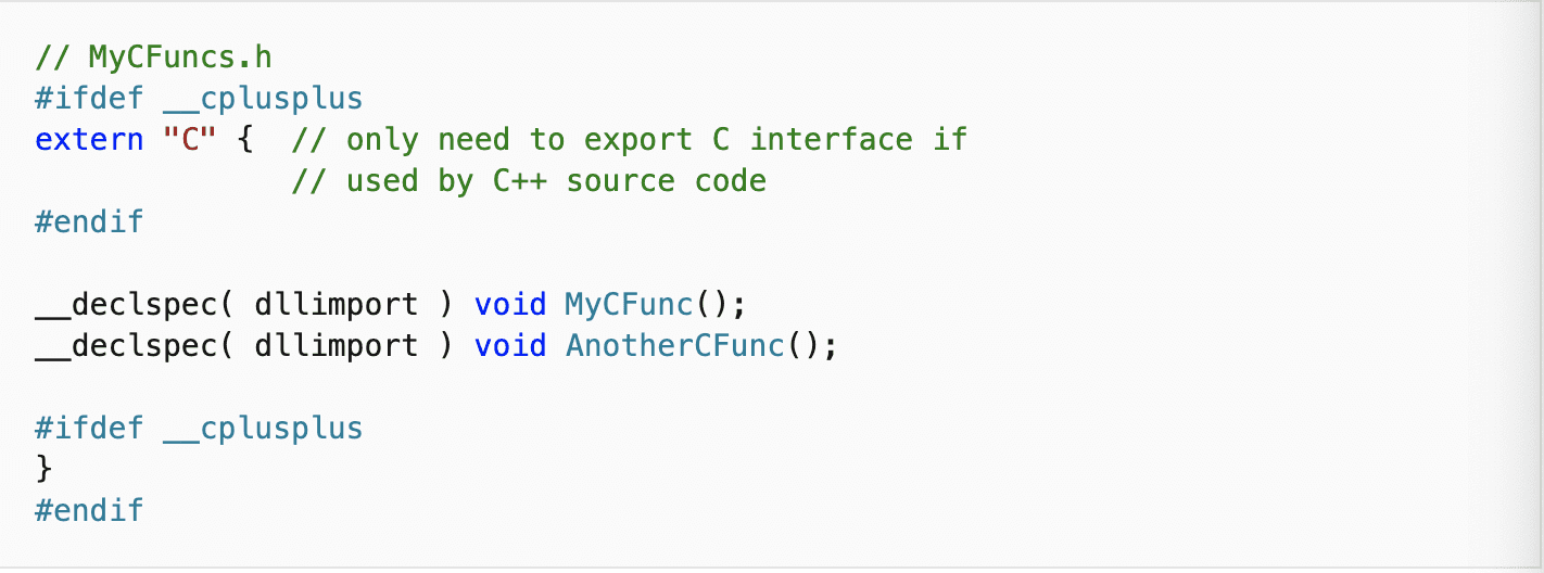 How to export C Functions