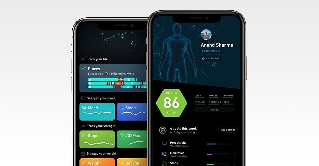 Gyroscope, a fitness app, uses React Native