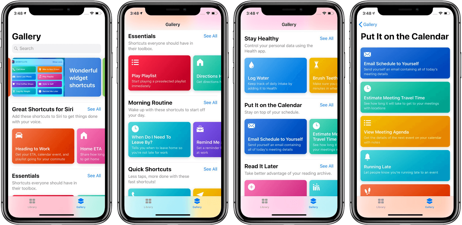 A screenshot of the Apple Shortcuts iPhone productivity app.