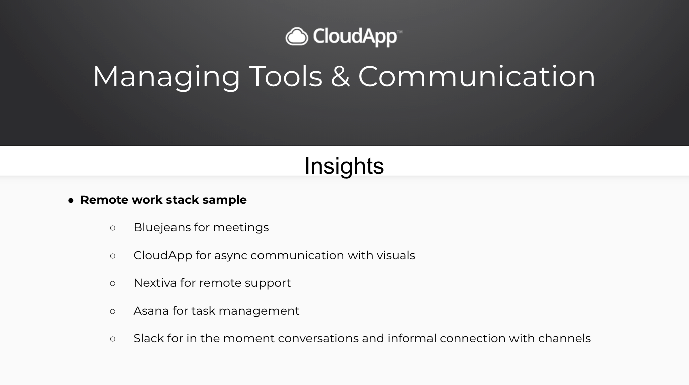 Managing Tools & Communication