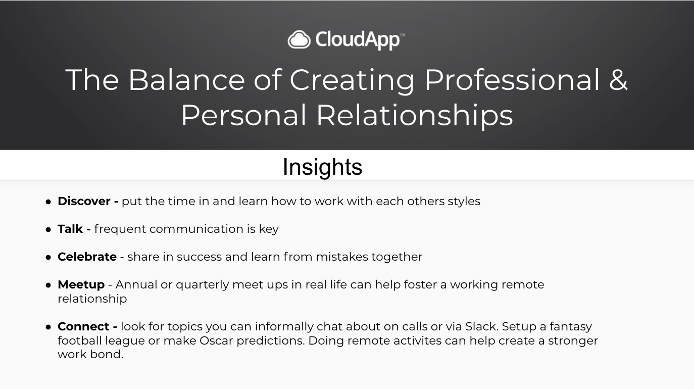 The Balance of Creating Professional & Personal Relationships