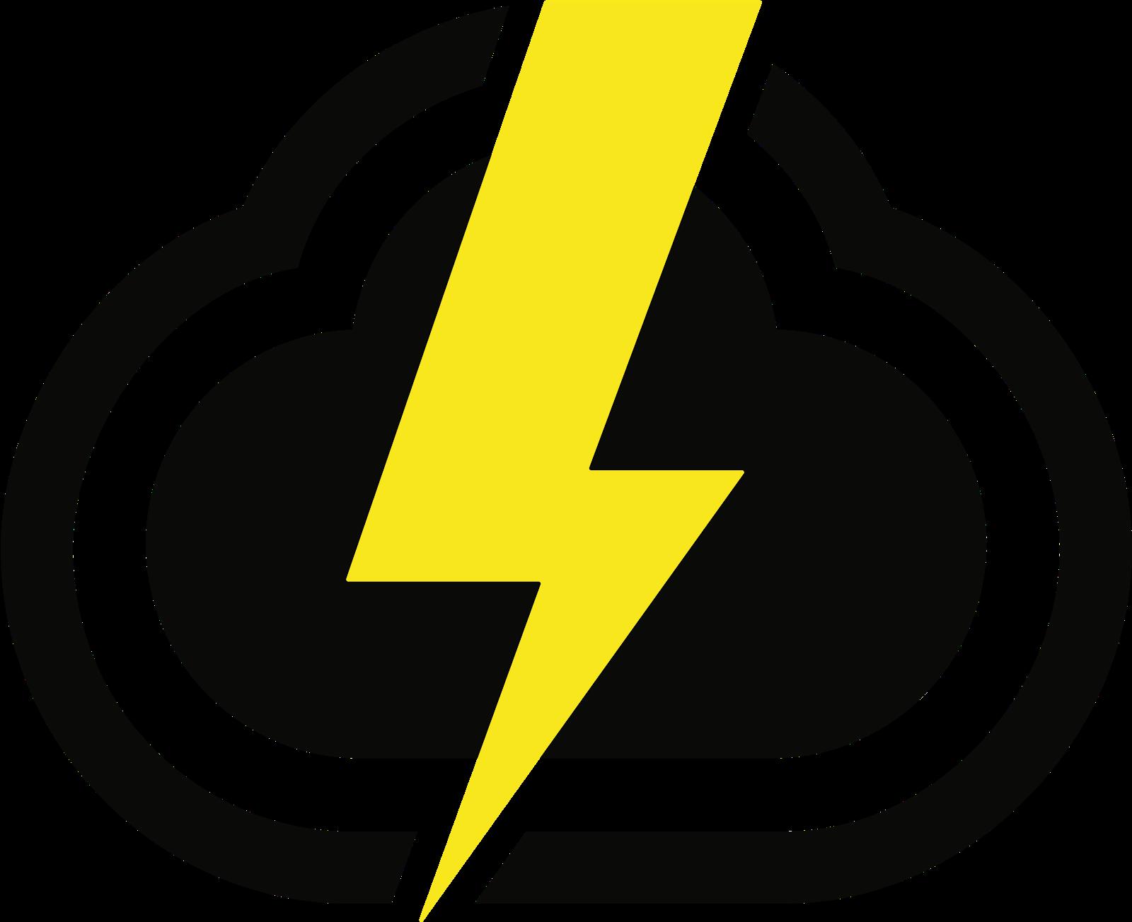 A CloudApp cloud with a lightning bolt going through it