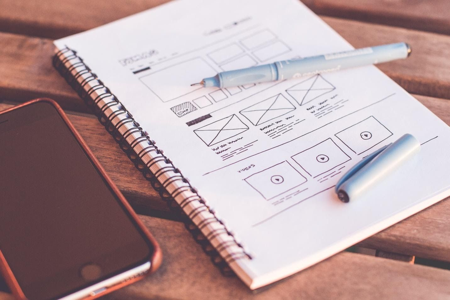 design pattern and interaction wireframe