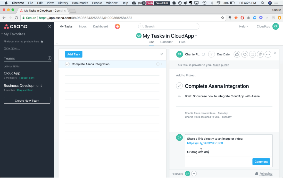 using CloudApp for design changes