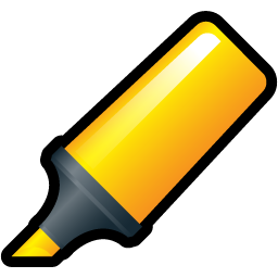 A highlighter icon.