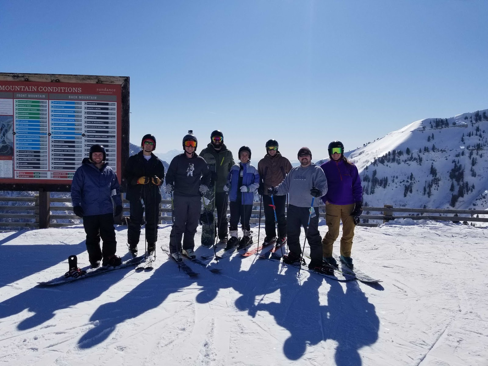 Members of the CloudApp team skiing