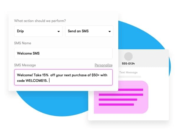 A screenshot of Drip, one of the best email marketing tools.