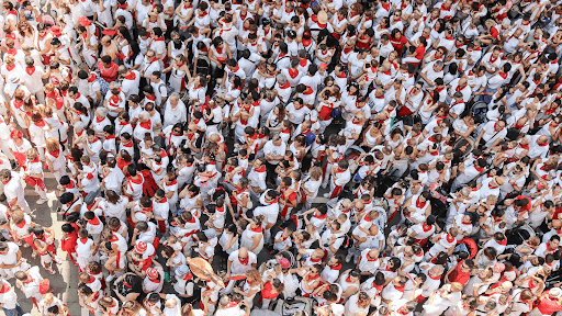 A large crowd of people.