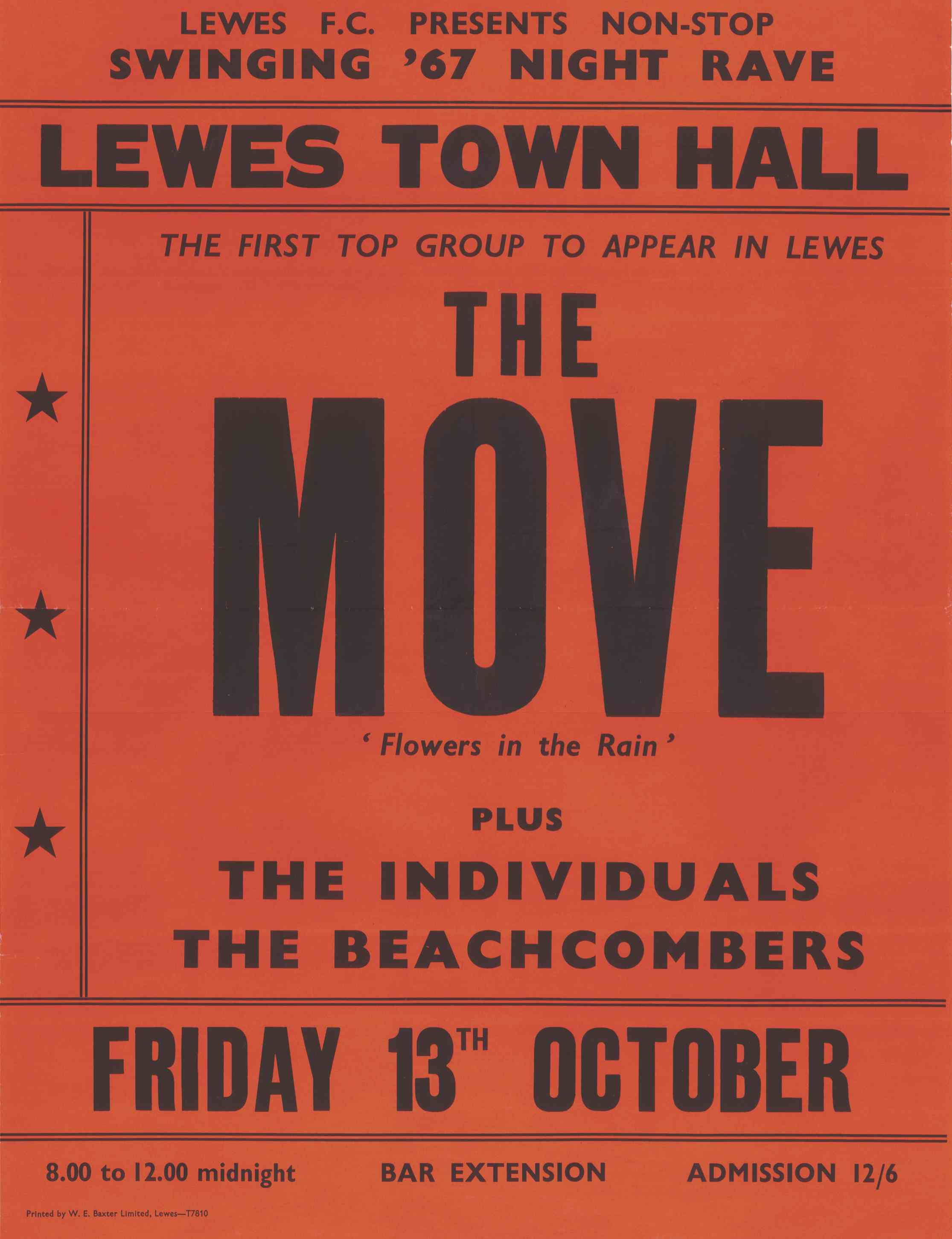 The Move played Lewes Town Hall in 1967