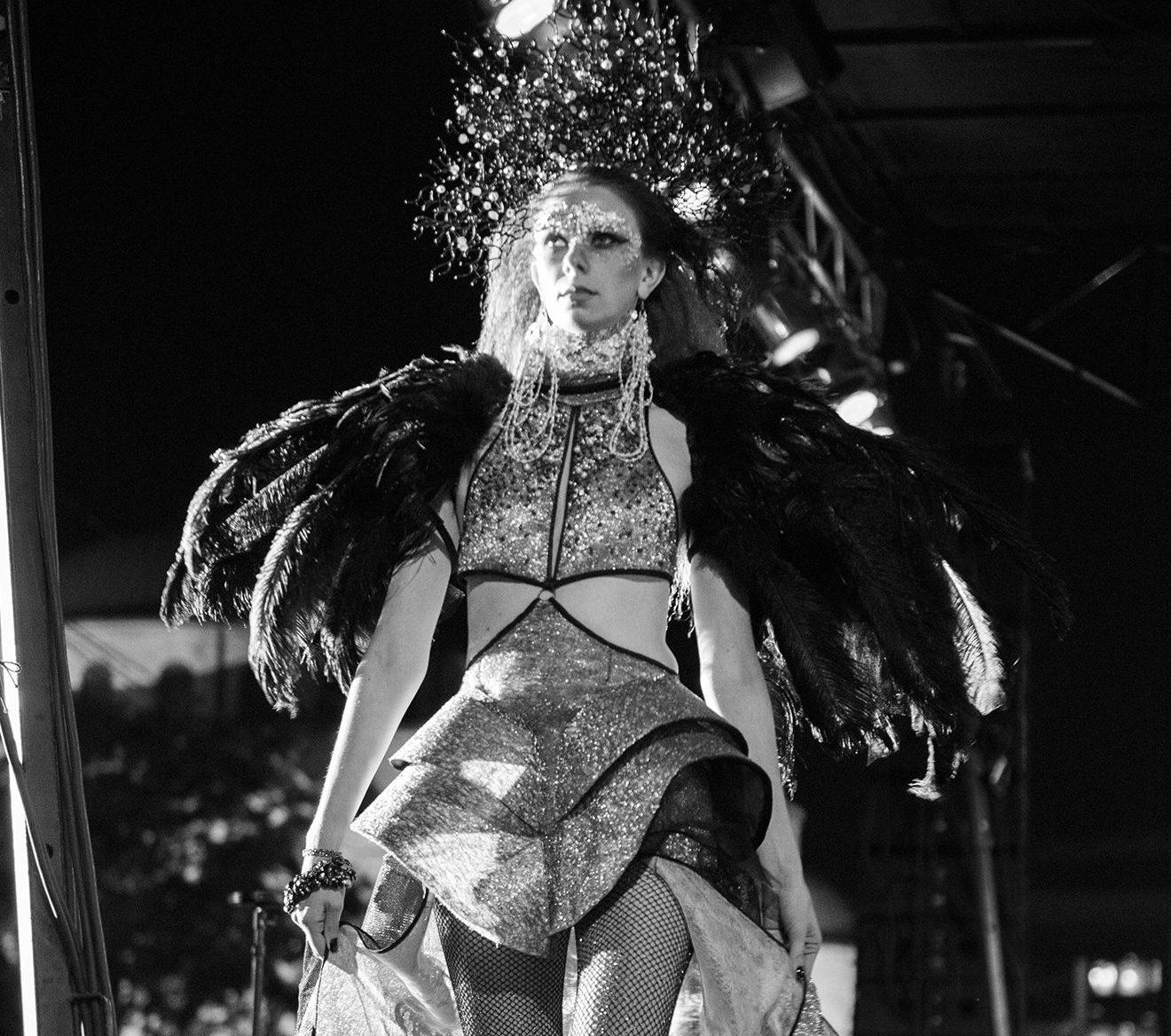 woman in a fancy halloween costume