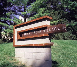 Rush Creek Village Marker Statue