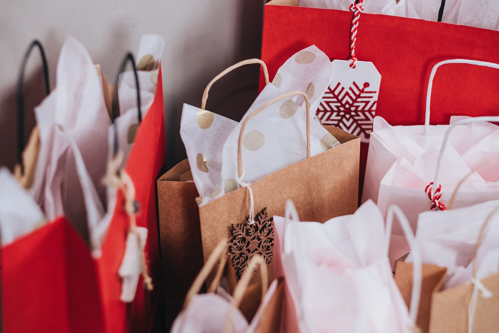 Holiday Presents in gift bags