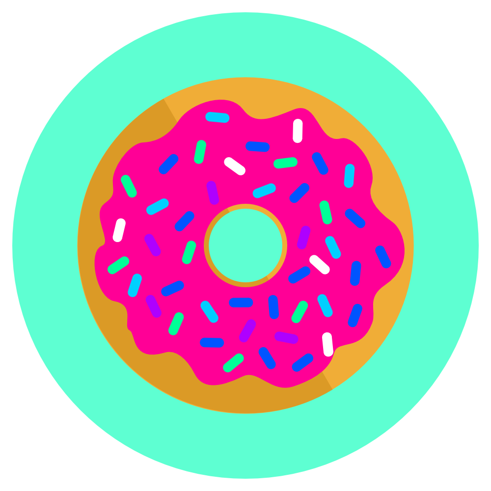 an icon depicting a donut with pink icing