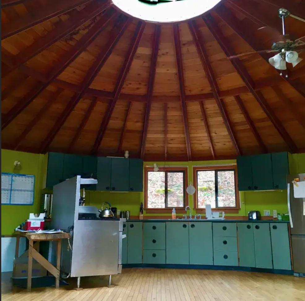 inside yurt in Ohio