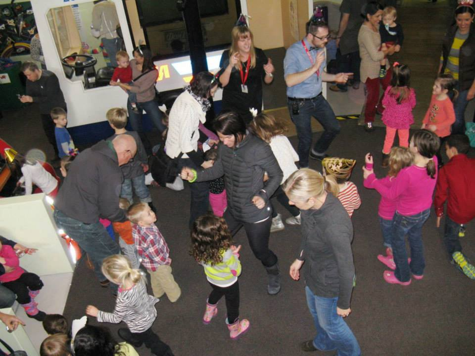 people dancing at  New Year's Eve at Noon Celebration at Cleveland Children's Museum