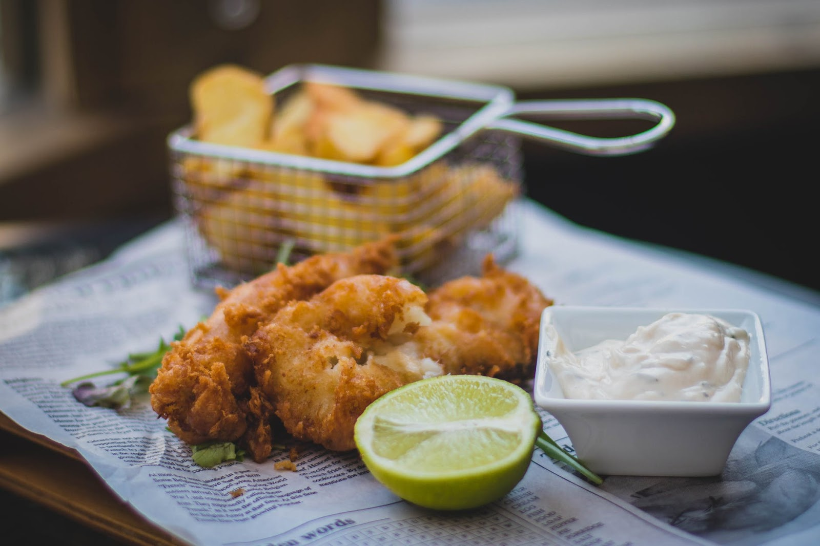fish and chips from Old Bag of Nails