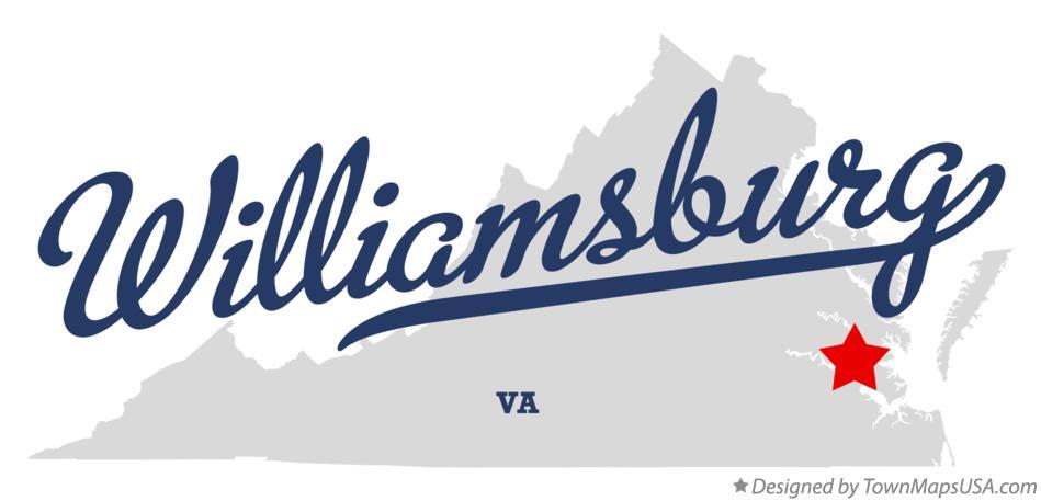 Williamsburg Virginia map graphic