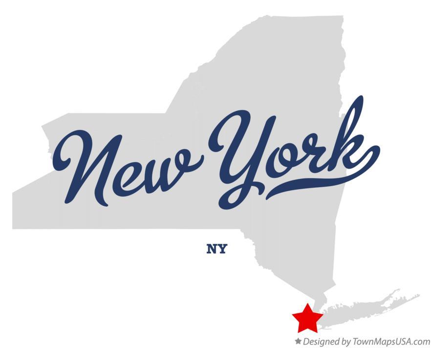 NYC New York map graphic