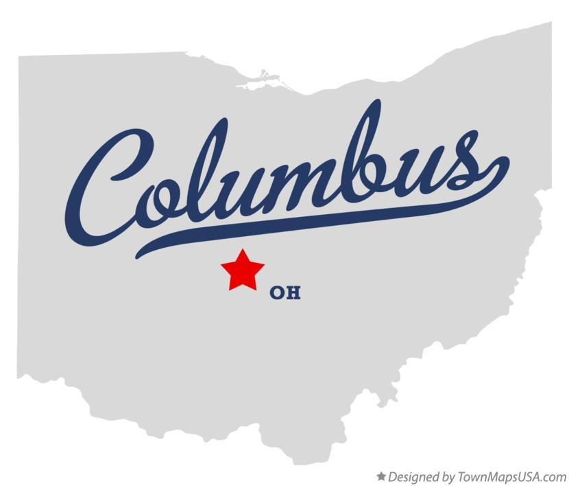 Columbus Ohio map graphic