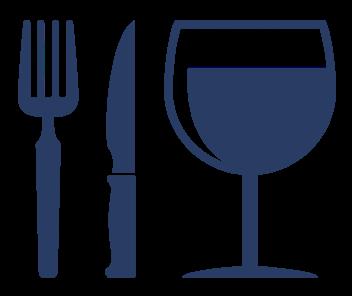 food utensils & wine glass icon