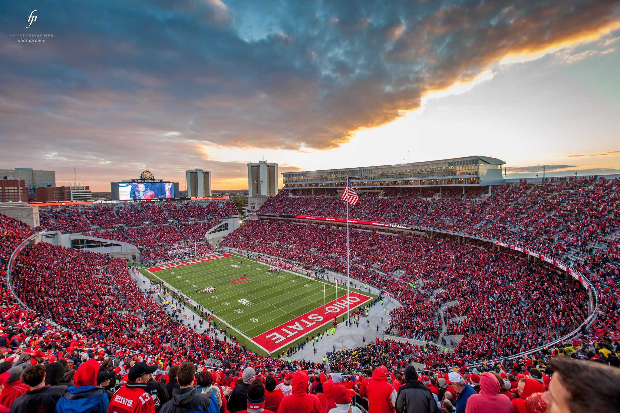 Ohio state stadium filled with fans