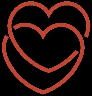 double heart icon