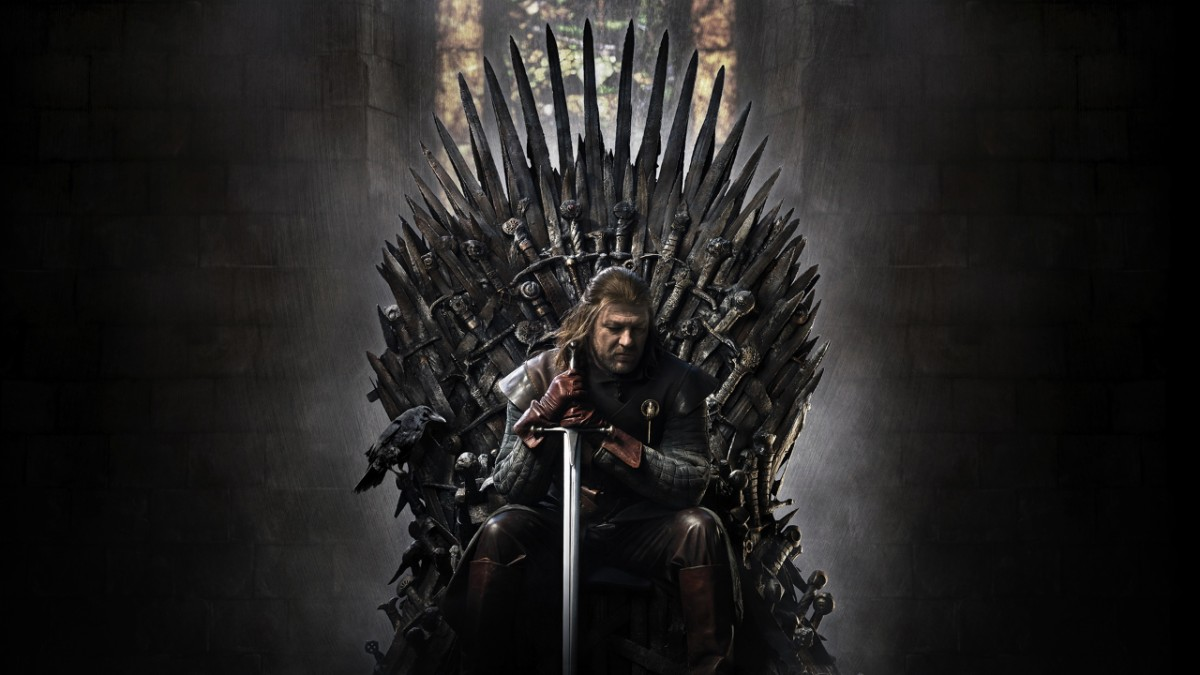 Ned Stark sits on the Iron Throne