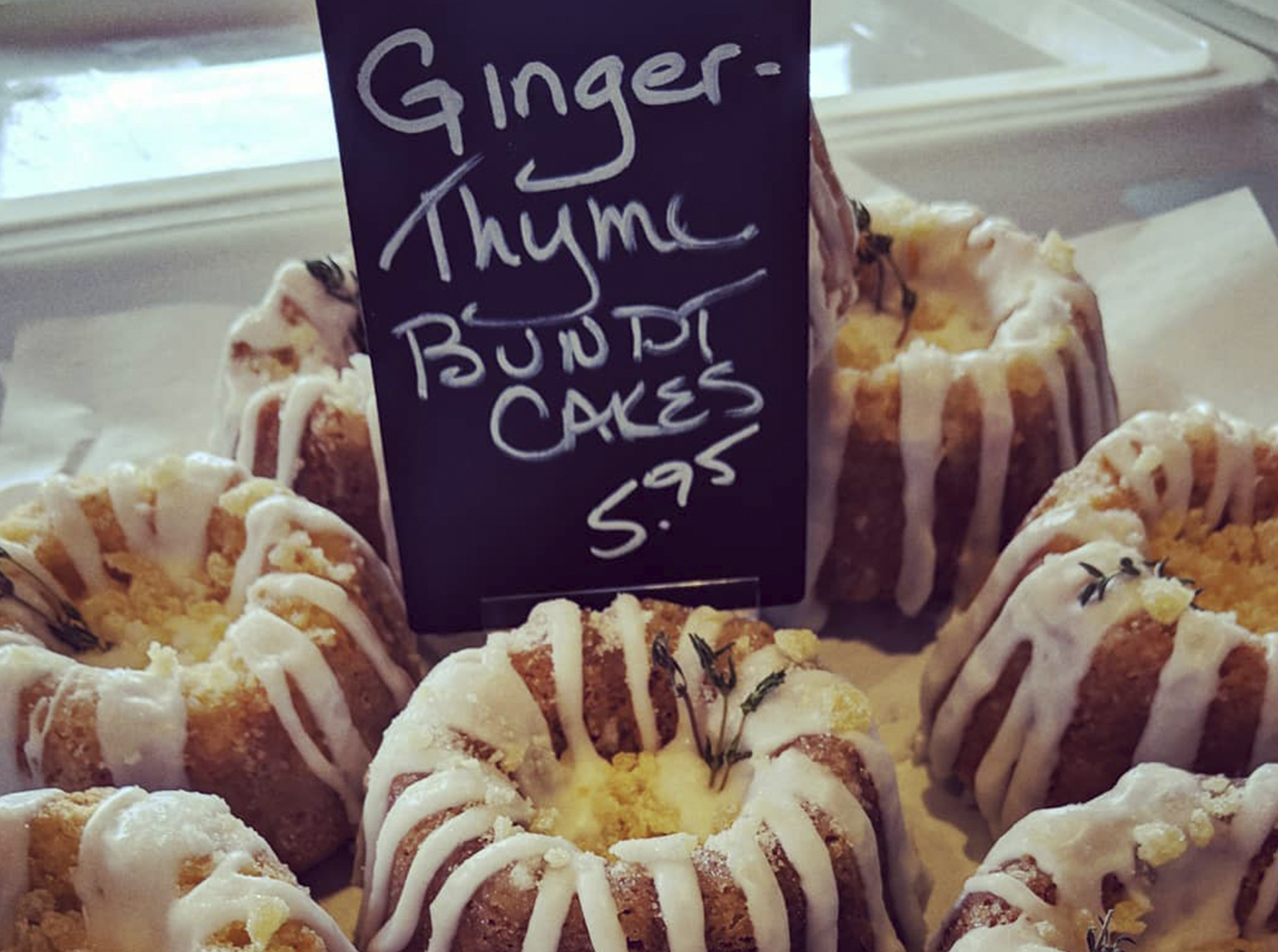 ginger thyme bundt cake
