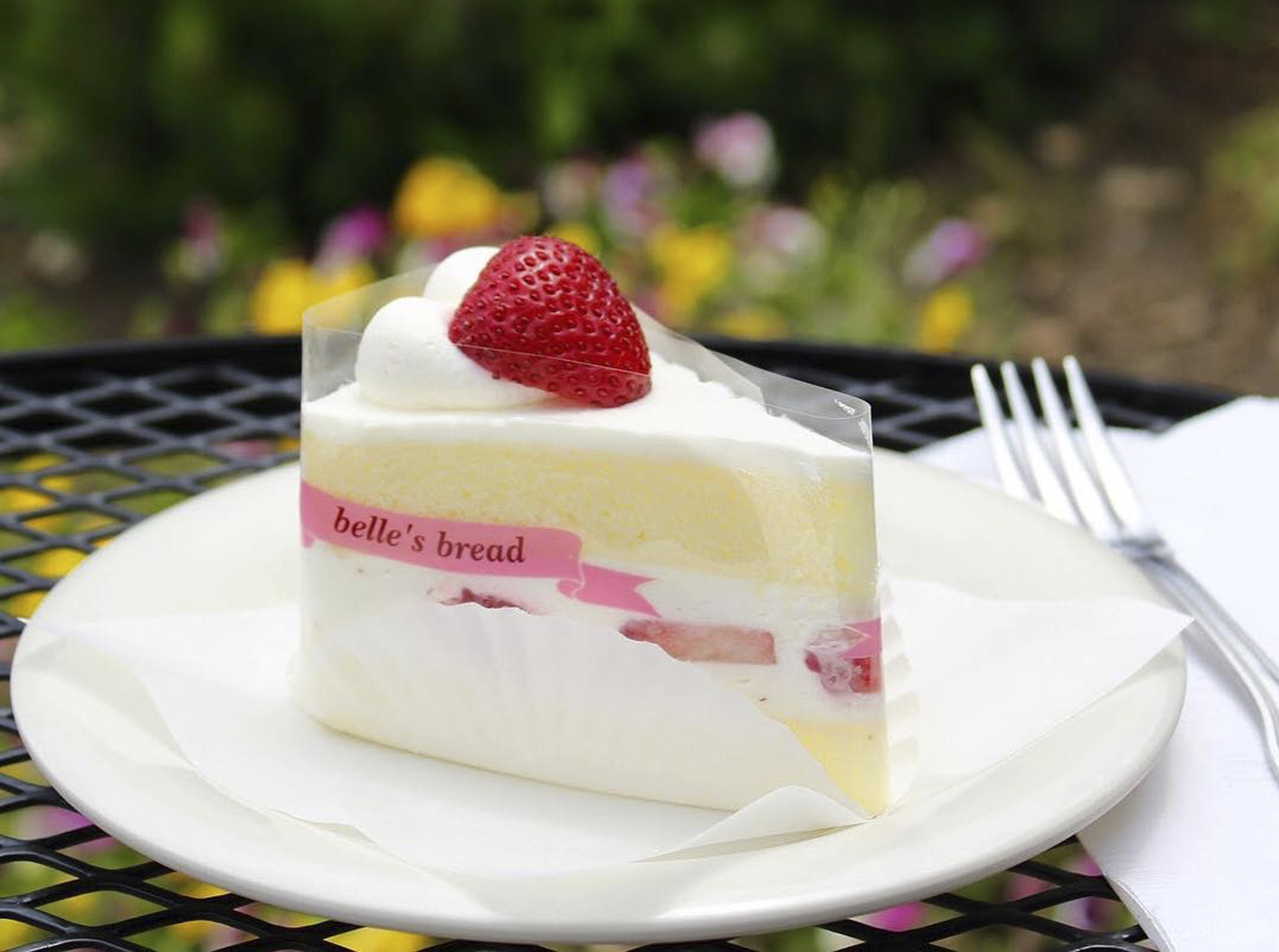 Strawberry cheesecake from Belle's