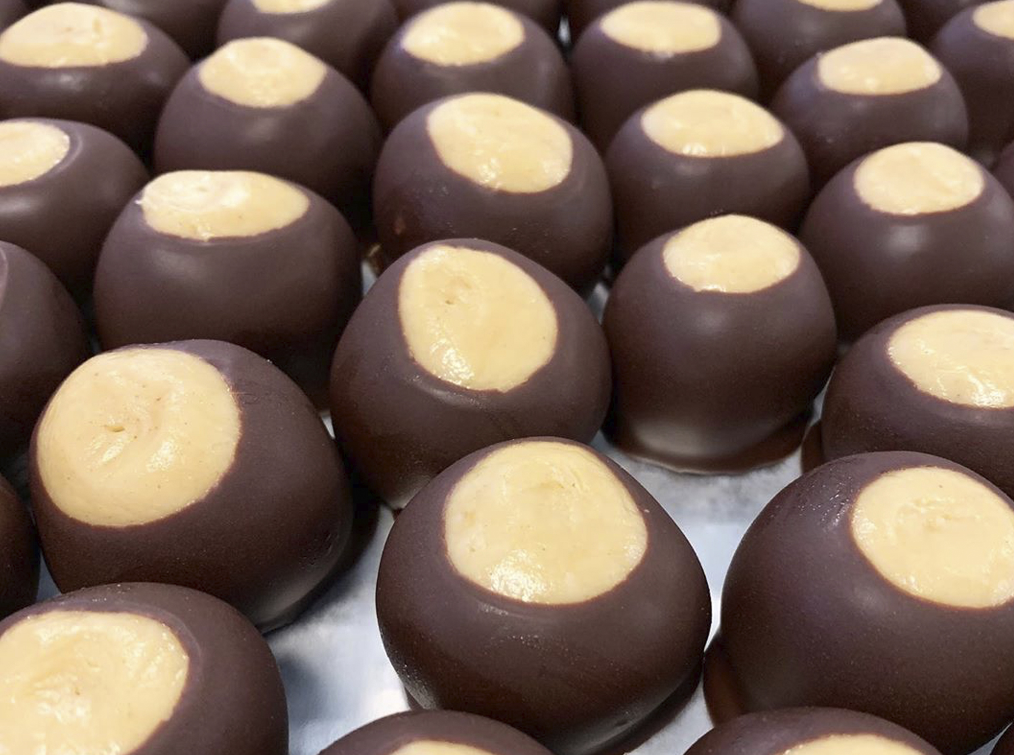 peanut butter buttons dipped in chocolate