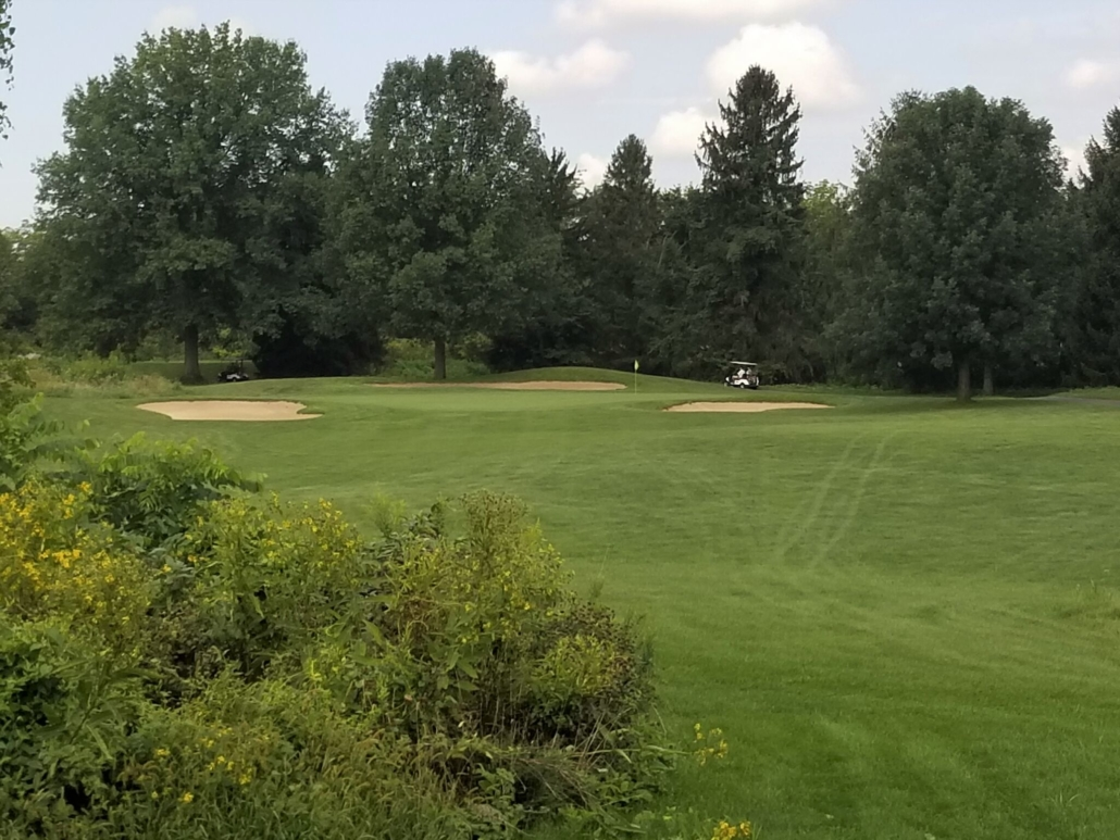 Blacklick woods golf course with golf cart in distance