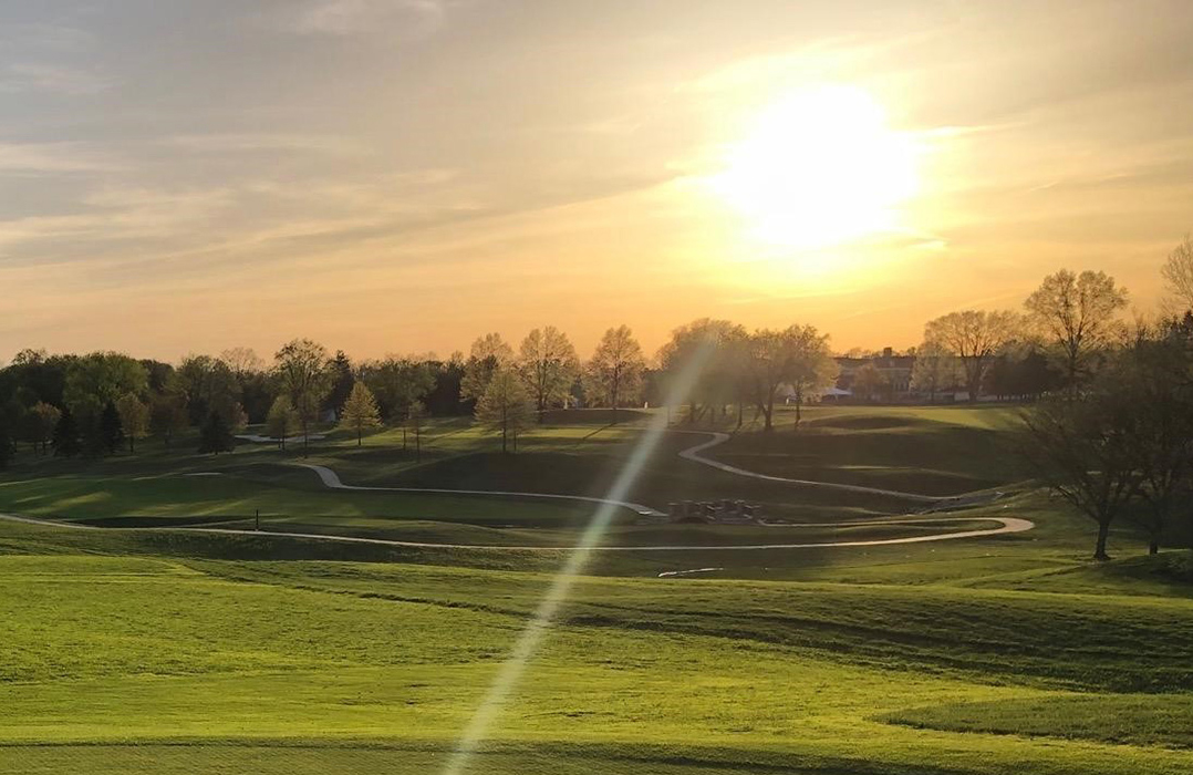 sunset over the Westfield Golf Course