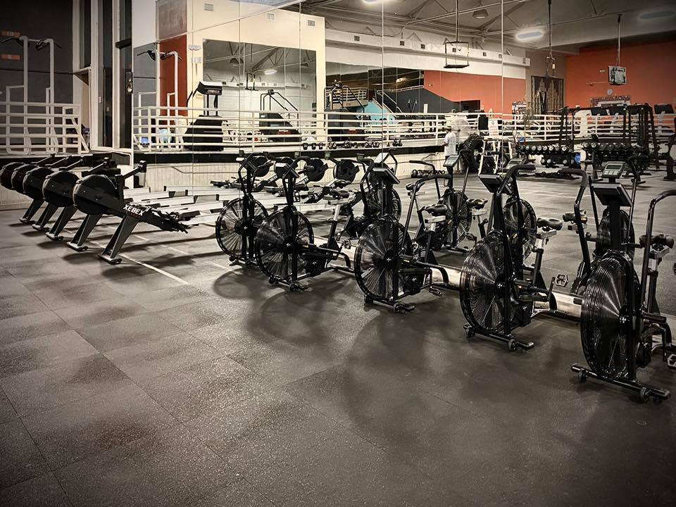 Interior of Wyandotte Athletic club, Free weights, Cardio equipment